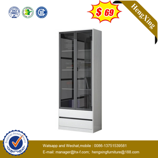 Foshan Factory Wooden Sliding Door Cabinet Office Furniture Bookshelf With Drawer