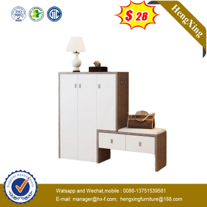 Classic Style Living Room Furniture Shoes Storage Cabinet/ Shoe Rack with Bench and 2 Drawers