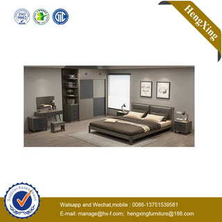 Modern Furniture Folding Melamine MDF Solid Wooden Home Bedroom Double King Bed