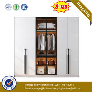 Cheap Home Office Wooden Bedroom Furniture Clothes Storage Almirah Cupboard Wardrobe