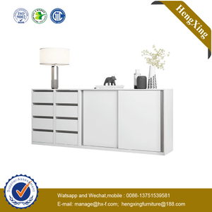 Cheap White MDF Sideboard Wooden Home Furniture Set Cupboard Storage Cabinet