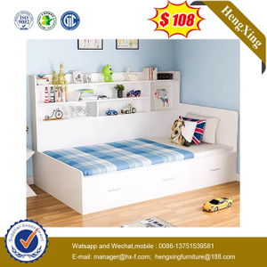 Wholesale factory Manufacturers Bedroom Furniture drawer cabinets Portable Baby Kids single Bed