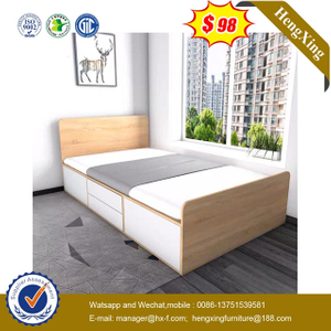 Factory Wholesale Wooden Modern Design Bedroom Children Furniture Kids Bunk Single Bed Set