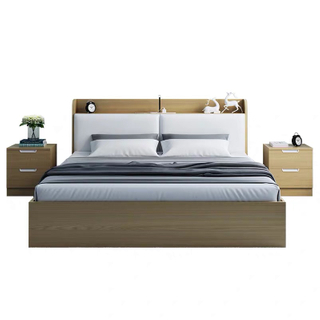 Latest Bedroom Furniture Set Modern Wooden Queen Size Bed King Bed With Headboard