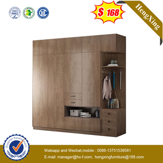 Swing Door Modern Bedroom furniture hotel Storage Cabinet Glass Door Wardrobe
