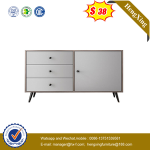 Home Furniture Factory Provides Nordic Modern Wooden Cabinet TV Side Cabinet