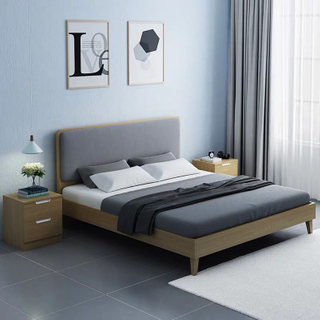 Modern Simple Style Bedroom Furniture 1.5m Double Bed Storage Bed