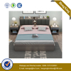Bedroom Furniture Luxury White High Gloss Bedroom Sets with Super King Size Bed