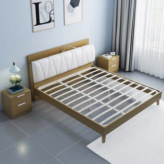 Sleeping Bedroom Furniture Simple Semi Double Soft Leather Storage Bed Size