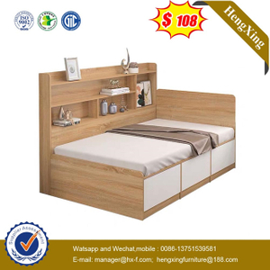Modern Bedroom Children Furniture Kids Wood Bookcase Single Beds