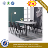 Factory Customized Extension Modern Banquet Wood Marble Dining Table with Chair Set