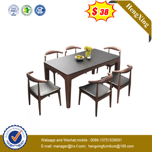Large Rectangular Wooden Table Dining Room Furniture Tables Set with Chairs