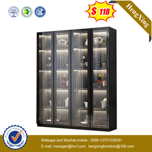 Simple European Style Wine Cabinet Single Glass Door Home Floor-Standing Display Living Room Cabinet
