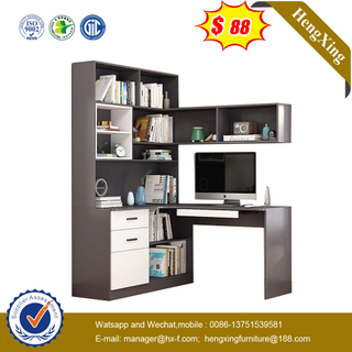 Simple Design Office Wooden Living Room Home Furniture Design Study Table In Bookshelf