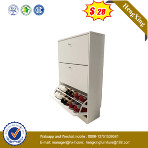 Classic Design Side Shoes Storage Cabinet Vertical White Wall Shoe Rack