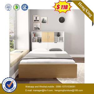 Factory Modern Wooden Hotel Single Beds Bookcase Bedroom baby Furniture Drawer Cabinet Kid Beds