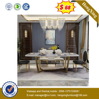 Popular Melamine Laminate Furniture White Dining Table for Restaurant Coffee