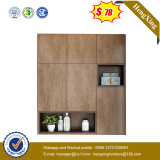 Modern Wooden Almirah Full Wall Melamine Bedroom close cabinets Wardrobe Design